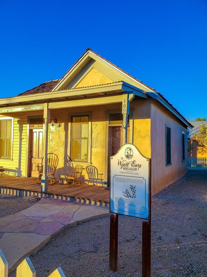 Wyatt Earp House Museum - Tombstone Arizona royalty free stock photos