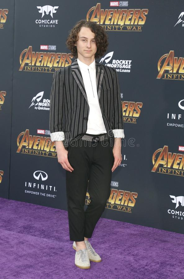 Wyatt Oleff. At the premiere of Disney and Marvel`s `Avengers: Infinity War` held at the El Capitan Theatre in Hollywood, USA on April 23, 2018 stock photo
