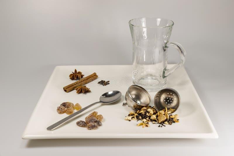 Wybór herbaciani składniki obraz royalty free