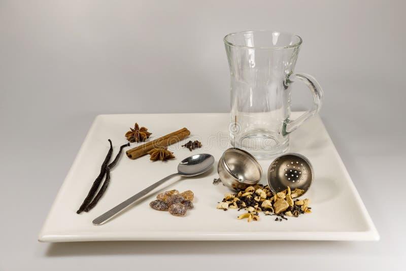 Wybór herbaciani składniki fotografia royalty free