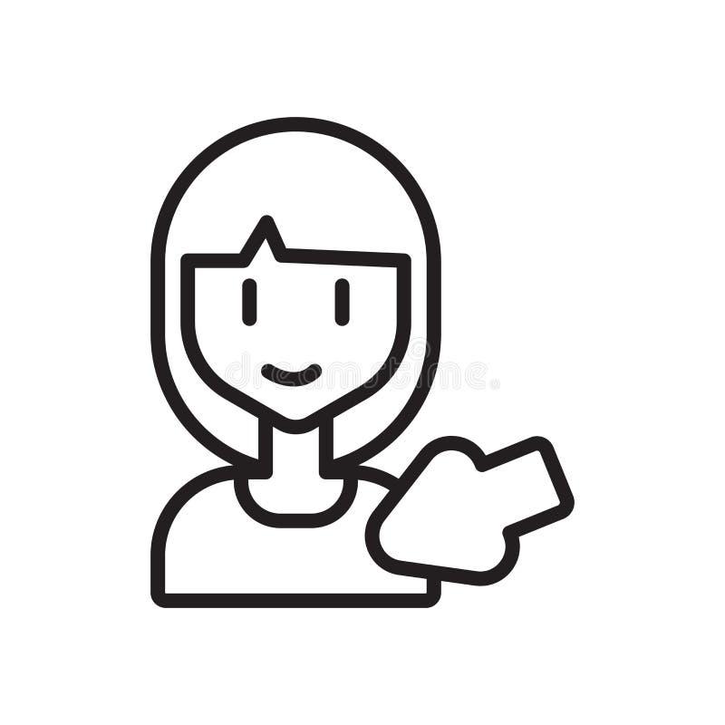 Wybór ikony wektor odizolowywający na białym tle, wyboru znak royalty ilustracja