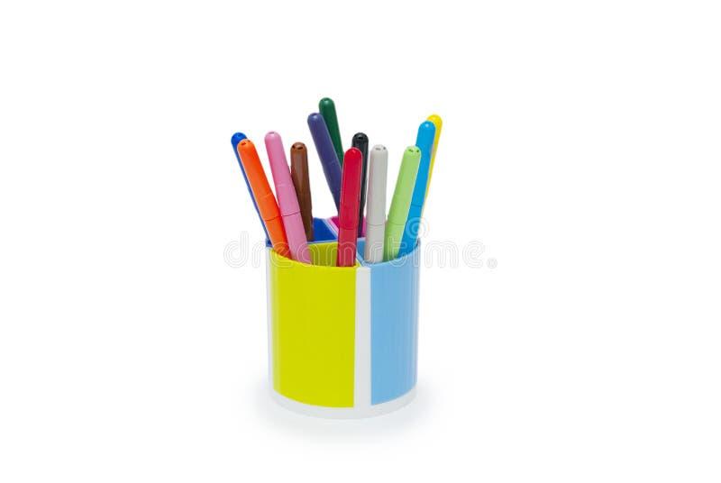 Wybór markiery w ołówkowym właścicielu obrazy stock
