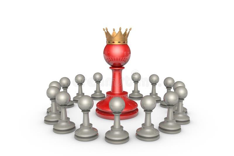 Wybór parlamentarny lub polityczny elita (szachowa metafora) royalty ilustracja