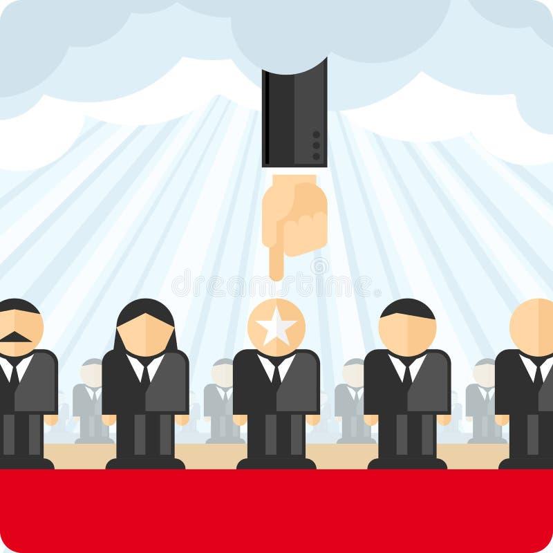 Wybór personel ilustracja wektor