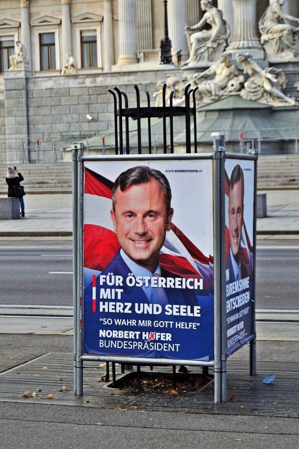 Wybór prezydenci Austria zdjęcia stock