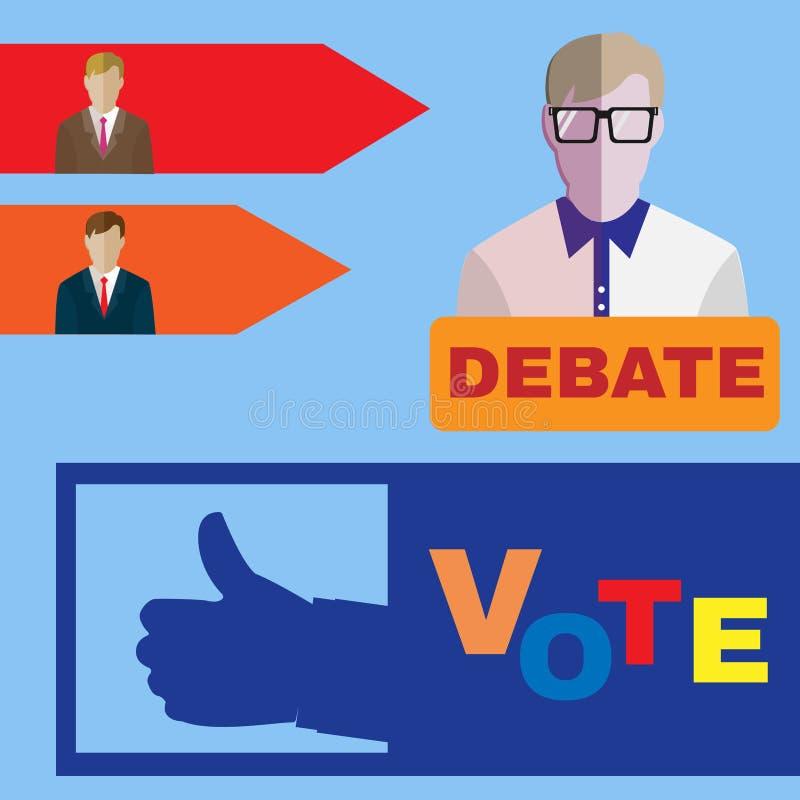 Wybór Prezydenci ikony 2016 set ilustracji