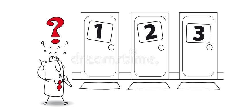 Wybór przy drzwi ilustracja wektor