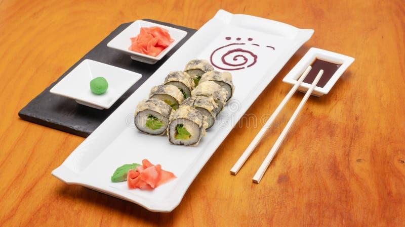 Wybór rolek sushi Koncepcja, Chile zdjęcia stock