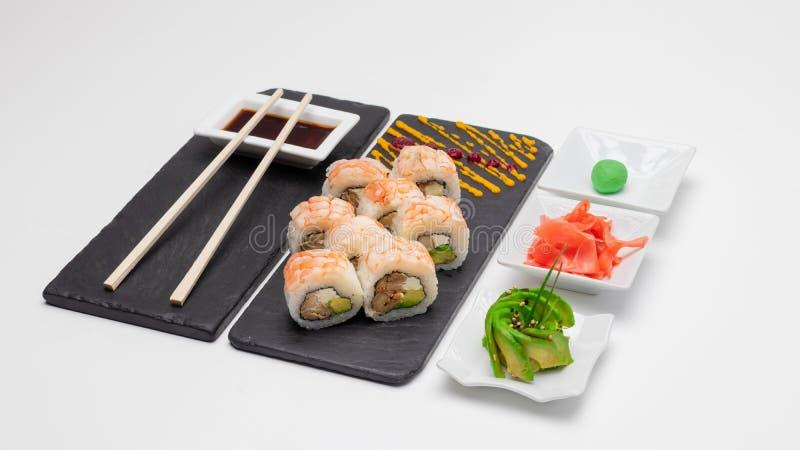 Wybór rolek sushi Koncepcja, Chile zdjęcia royalty free