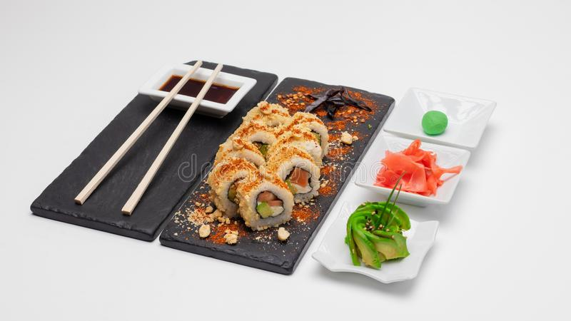 Wybór rolek sushi Koncepcja, Chile fotografia stock