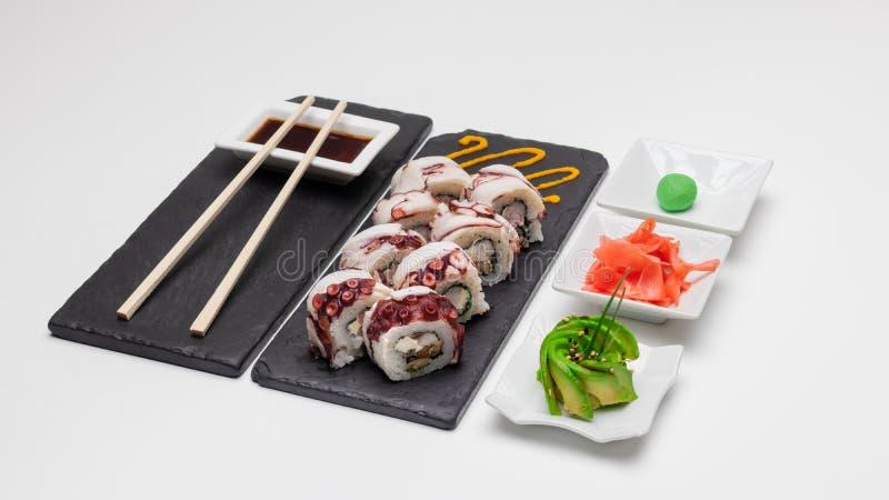 Wybór rolek sushi Koncepcja, Chile obrazy royalty free