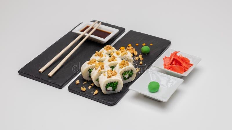 Wybór rolek sushi Koncepcja, Chile obrazy stock