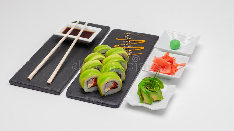 Wybór rolek sushi Koncepcja, Chile obraz royalty free