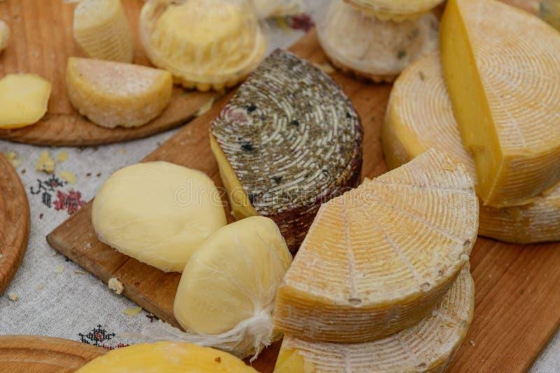 Wybór ser na stole zdjęcia stock