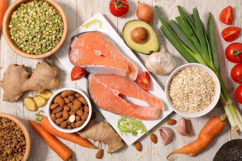 Wybór zdrowia jedzenie fotografia royalty free