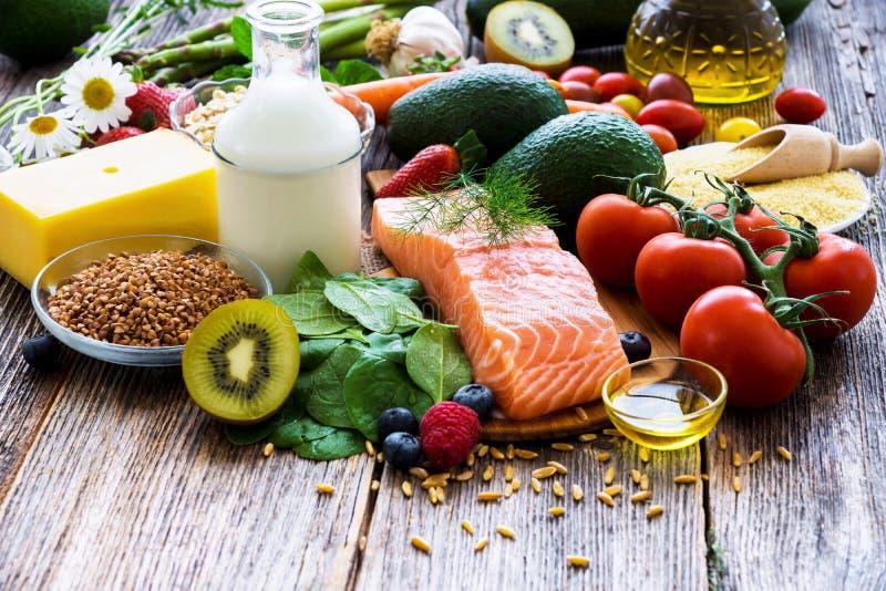Wybór zdrowy jedzenie obrazy royalty free