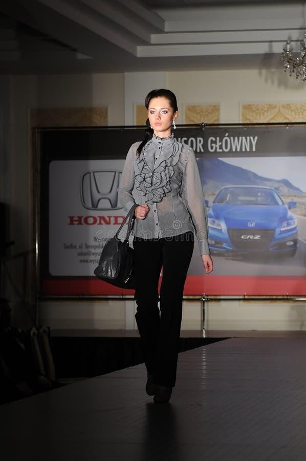 wybiegu mody model obrazy royalty free