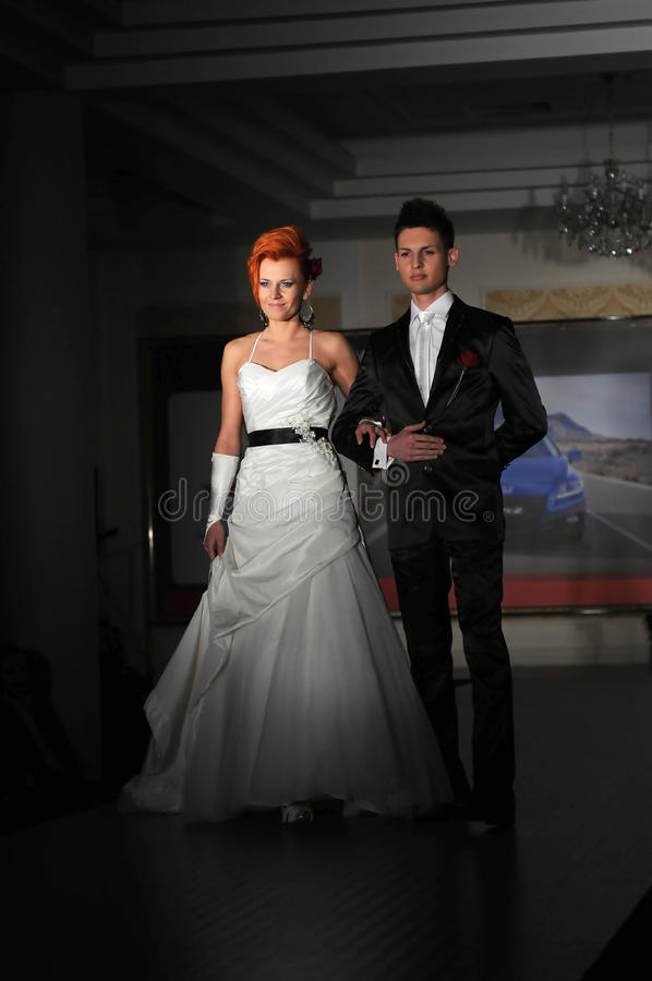 wybiegu mody modele obraz royalty free