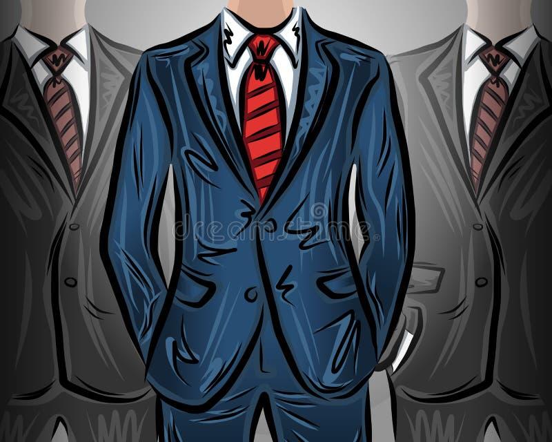Wybierać lidera biznesmena wektoru ilustrację ilustracji