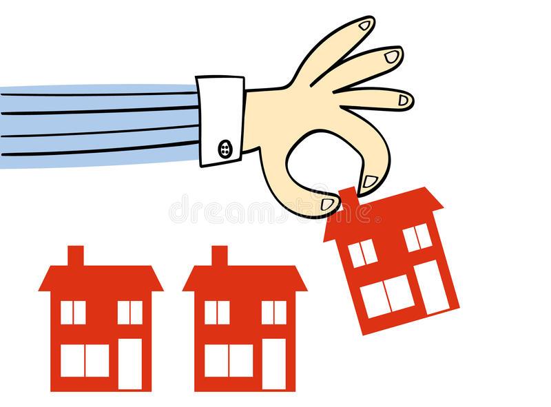 Wybierać nowego dom ilustracja wektor
