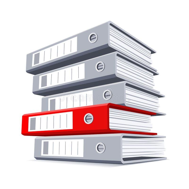 Wybierać prawą falcówkę z dokumentami ilustracja wektor