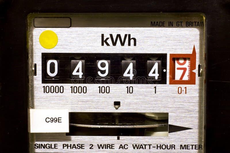 wybiera numer elektrycznego metr obrazy stock