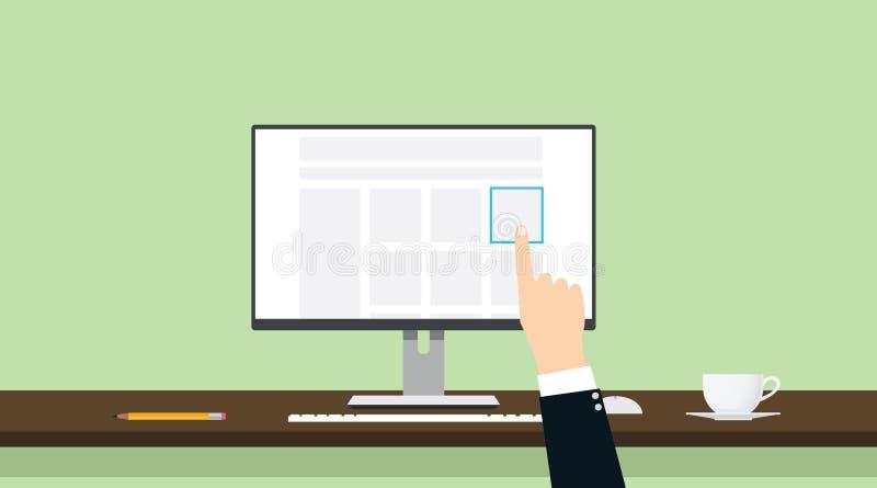 Wybiera produktu handlu online rękę - wyboru best i dobro royalty ilustracja