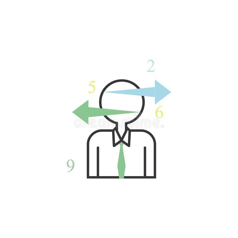 Wybiera strzała barwiącą ikonę Element biznes dla mobilnego pojęcia i sieci apps ikony Cienka kreskowa ikona dla strona interneto royalty ilustracja