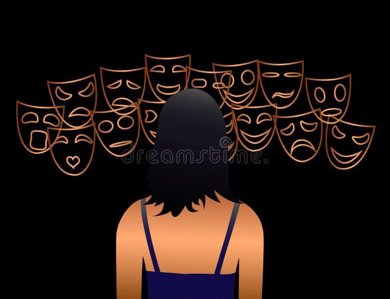 wybiera twój emocję royalty ilustracja