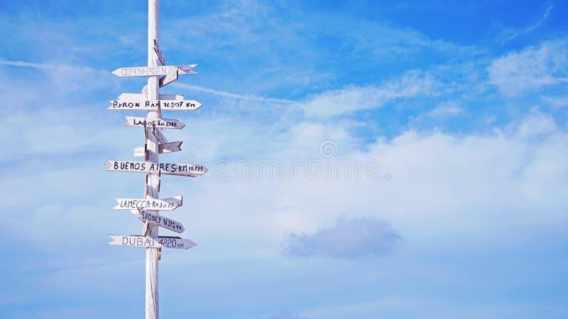 Wybiera twój miejsce przeznaczenia (horyzontalnego) fotografia stock