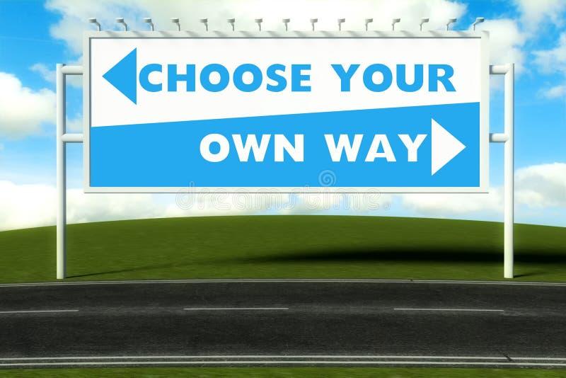 Wybiera twój swój sposób, pojęcie royalty ilustracja