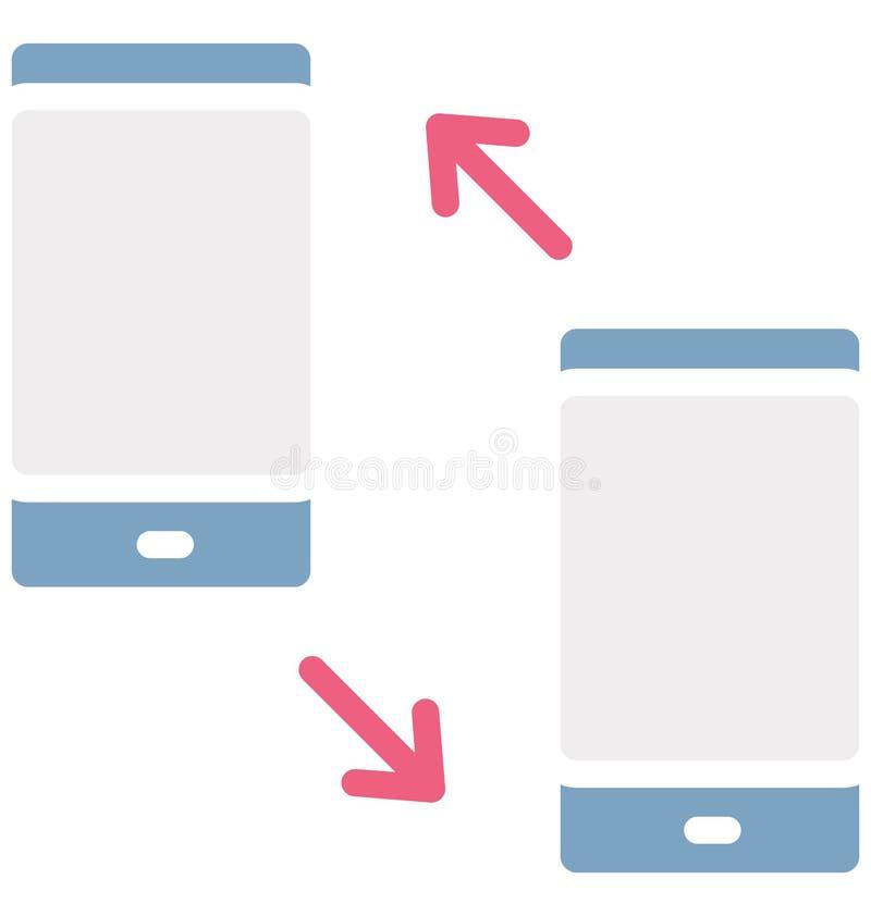 Wybierający numer i otrzymywający wezwania Odizolowywali Wektorową ikonę która może modyfikować Nakręconego redagować lub i otrzy ilustracja wektor
