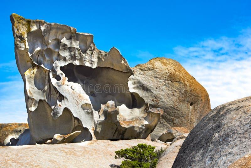 Wybitne skały, kangur wyspa, Australia fotografia royalty free