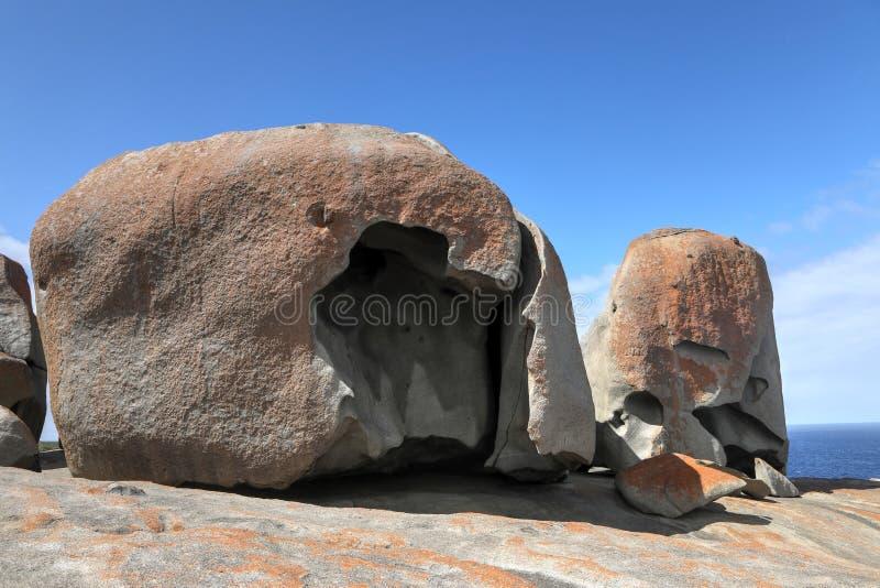 Wybitne skały na kangur wyspie, Australia fotografia royalty free