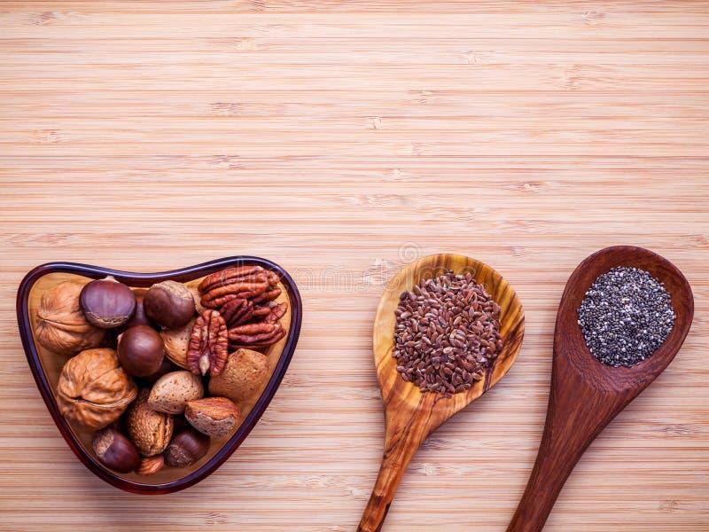 Wyborów karmowi źródła omega 3 i nieprzepojeni sadło super fo obraz stock