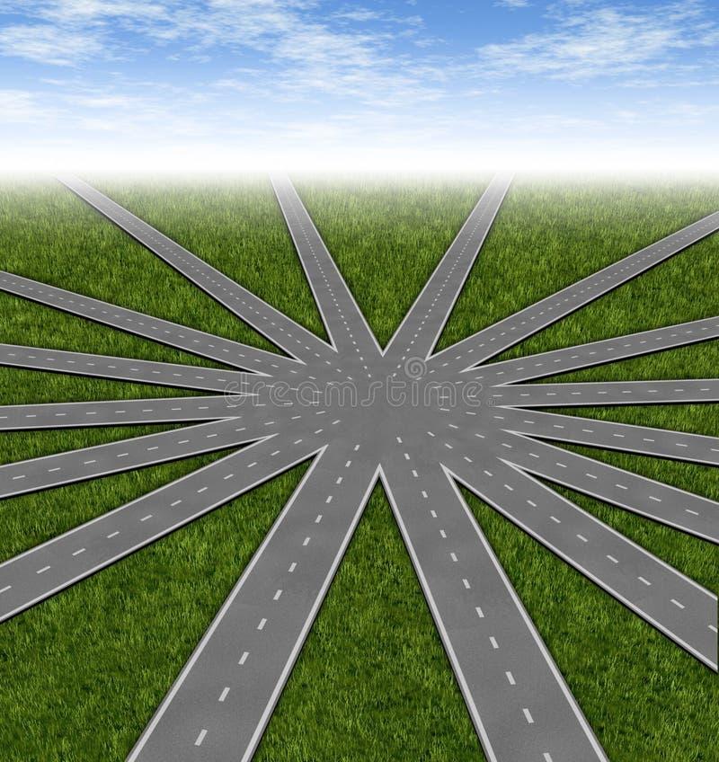 wyborów strategii symbol ilustracja wektor