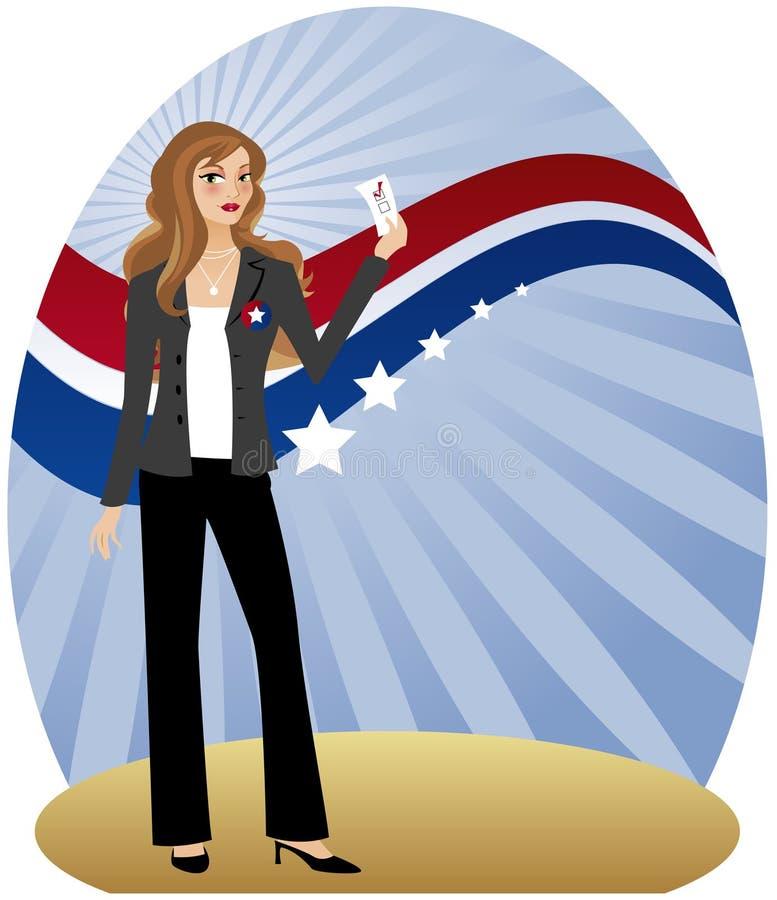 wyborca kobieta royalty ilustracja
