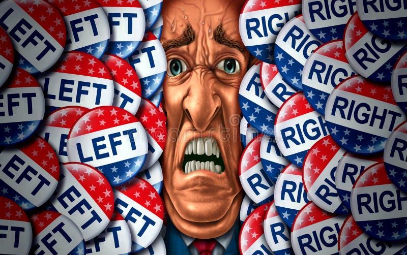 Wyborcy stres royalty ilustracja