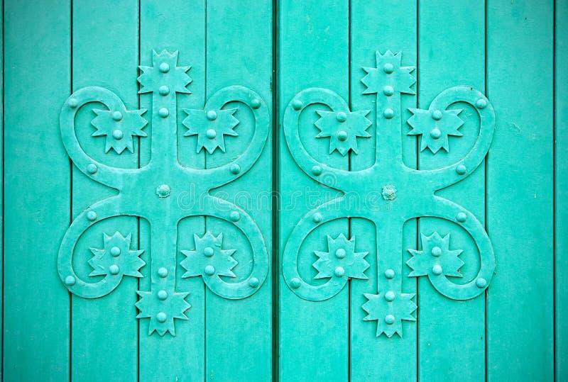 Wyborg Russland Fragment einer Tür lizenzfreies stockbild