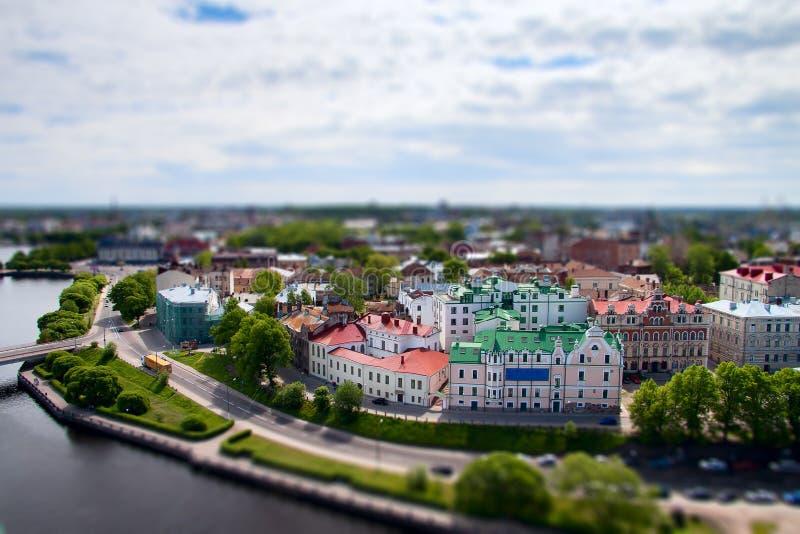 Wyborg town royaltyfri fotografi