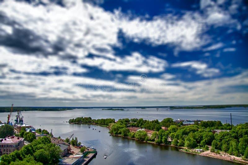 Wyborg town royaltyfri foto