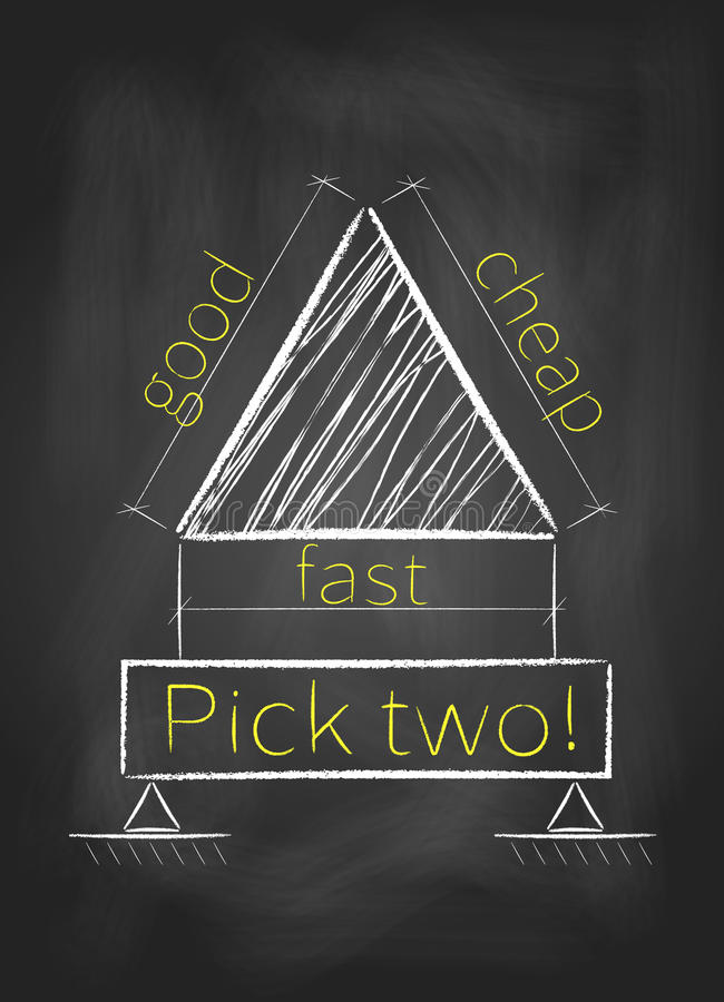 Wyboru dwa pojęcie na blackboard royalty ilustracja