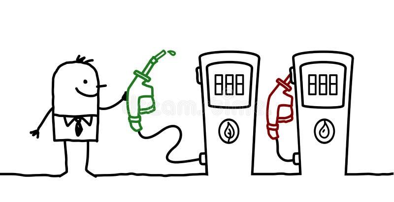 wyboru paliwa mężczyzna ilustracji