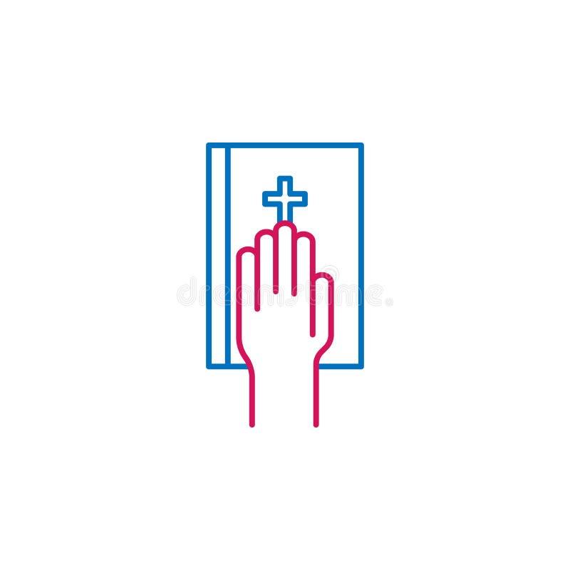 Wybory, ślubowanie konturu barwiona ikona Może używać dla sieci, logo, mobilny app, UI, UX ilustracja wektor