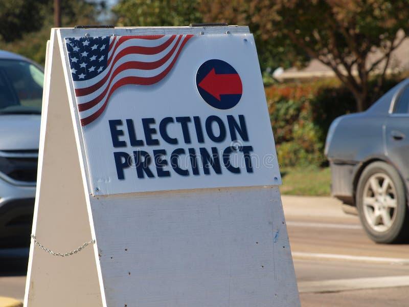 Wybory dzielnicy plakat Dla Wcześnie Głosować obrazy stock