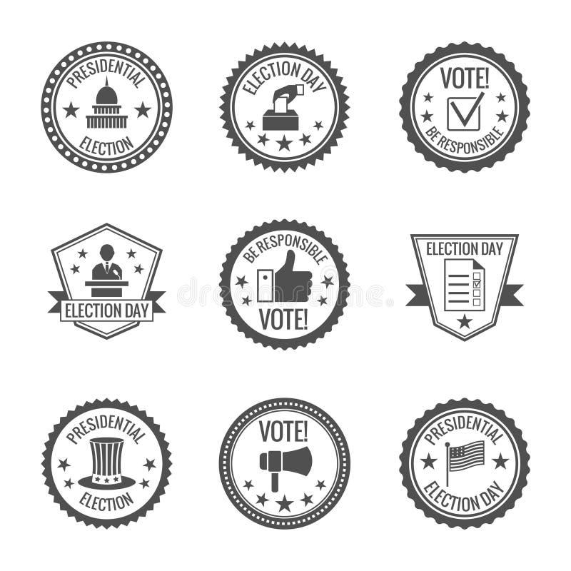 Wybory etykietki ustawiać ilustracji