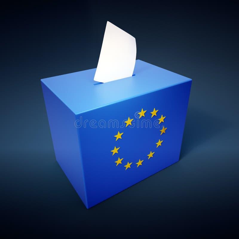 wybory europejczyk parlamentarny royalty ilustracja
