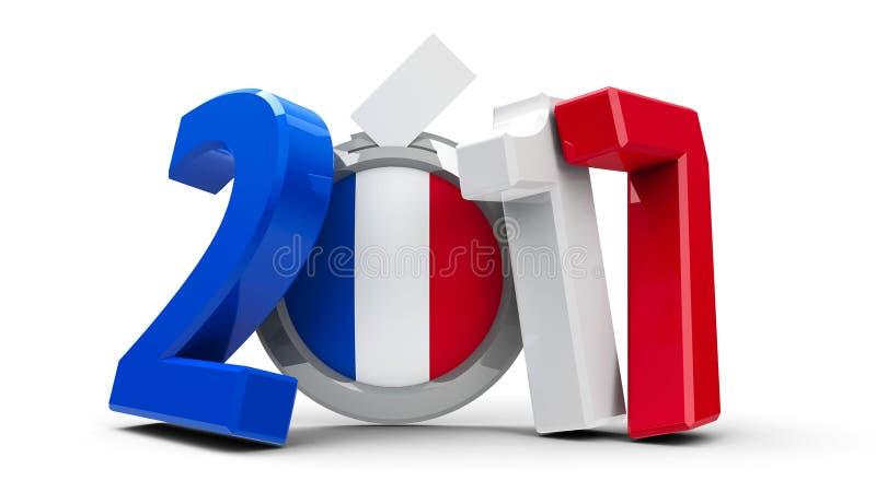 Wybory Francja 2017 royalty ilustracja