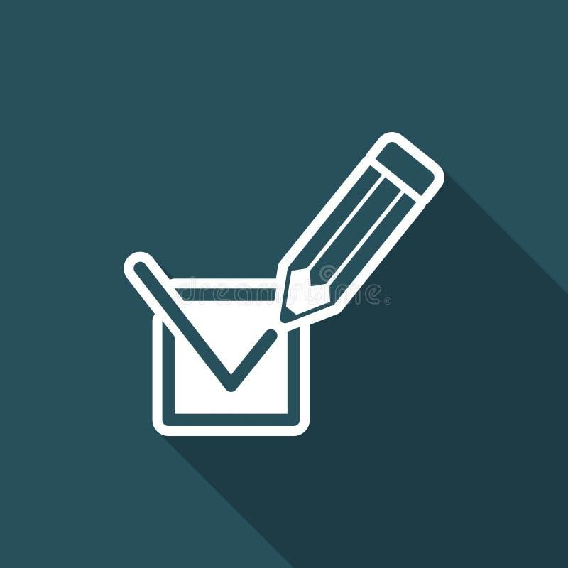 Wybory głosuje oceny ikonę ilustracji