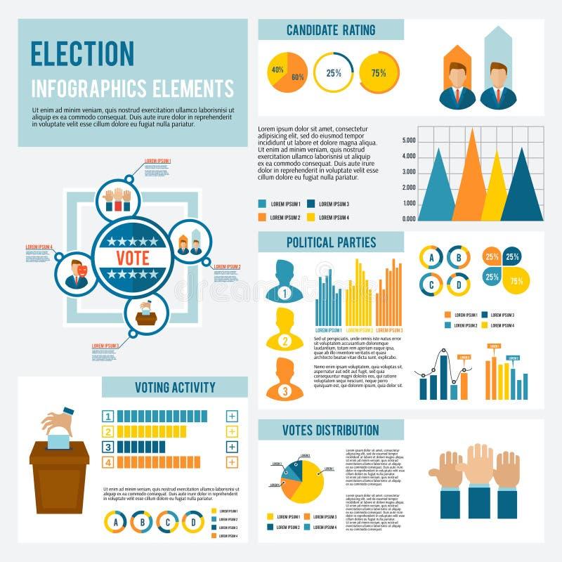 Wybory ikona Infographic royalty ilustracja